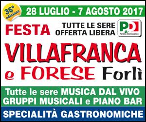 FESTA VILLAFRANCA E FORESE – HOME MRT1 25/7 – 7/8