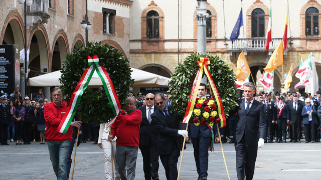 Cerimonia per la Festa della Liberazione a Ravenna (foto Zani)