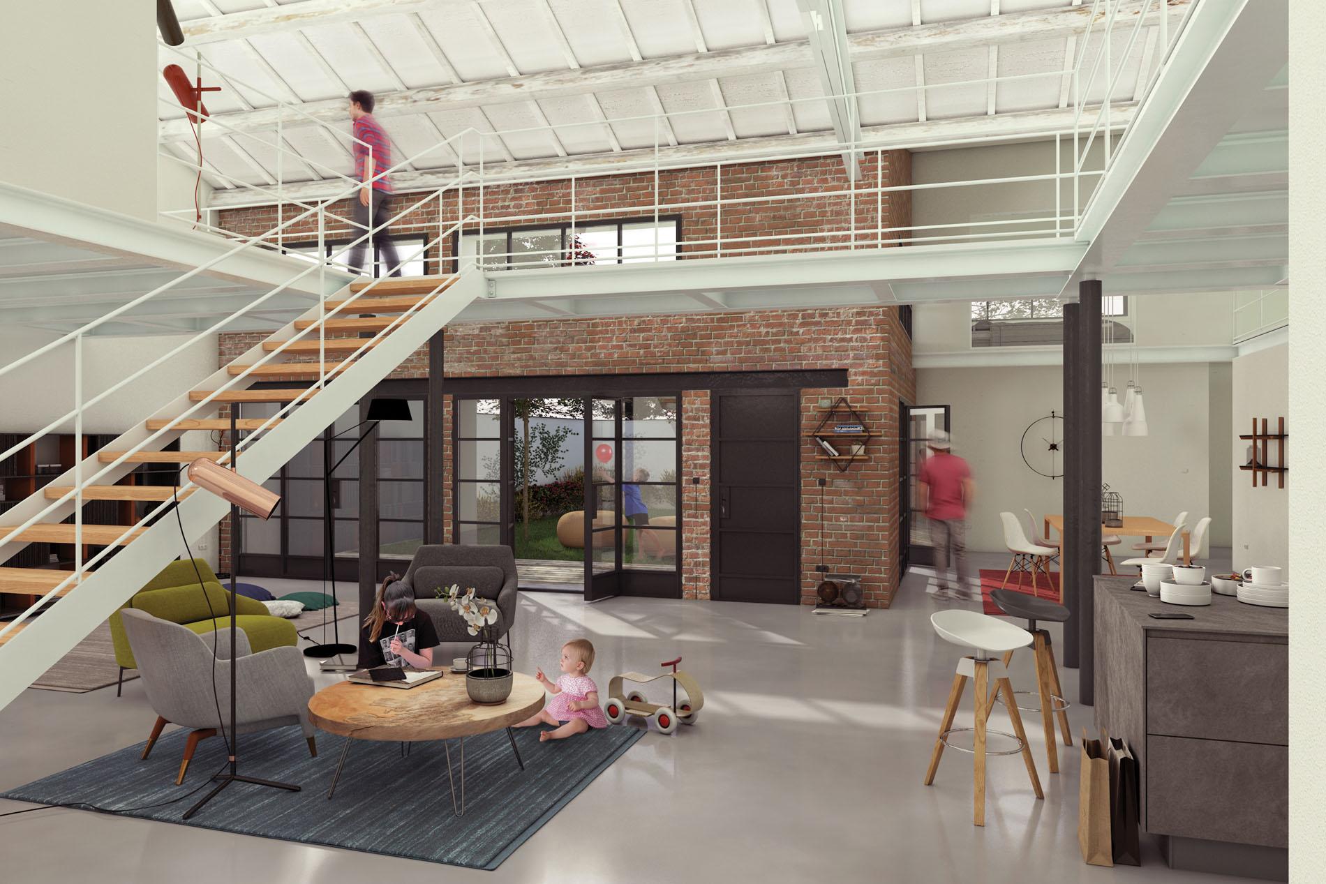 Loft in darsena cos si rigenera una vecchia teloneria for Progetti di loft di stoccaggio garage