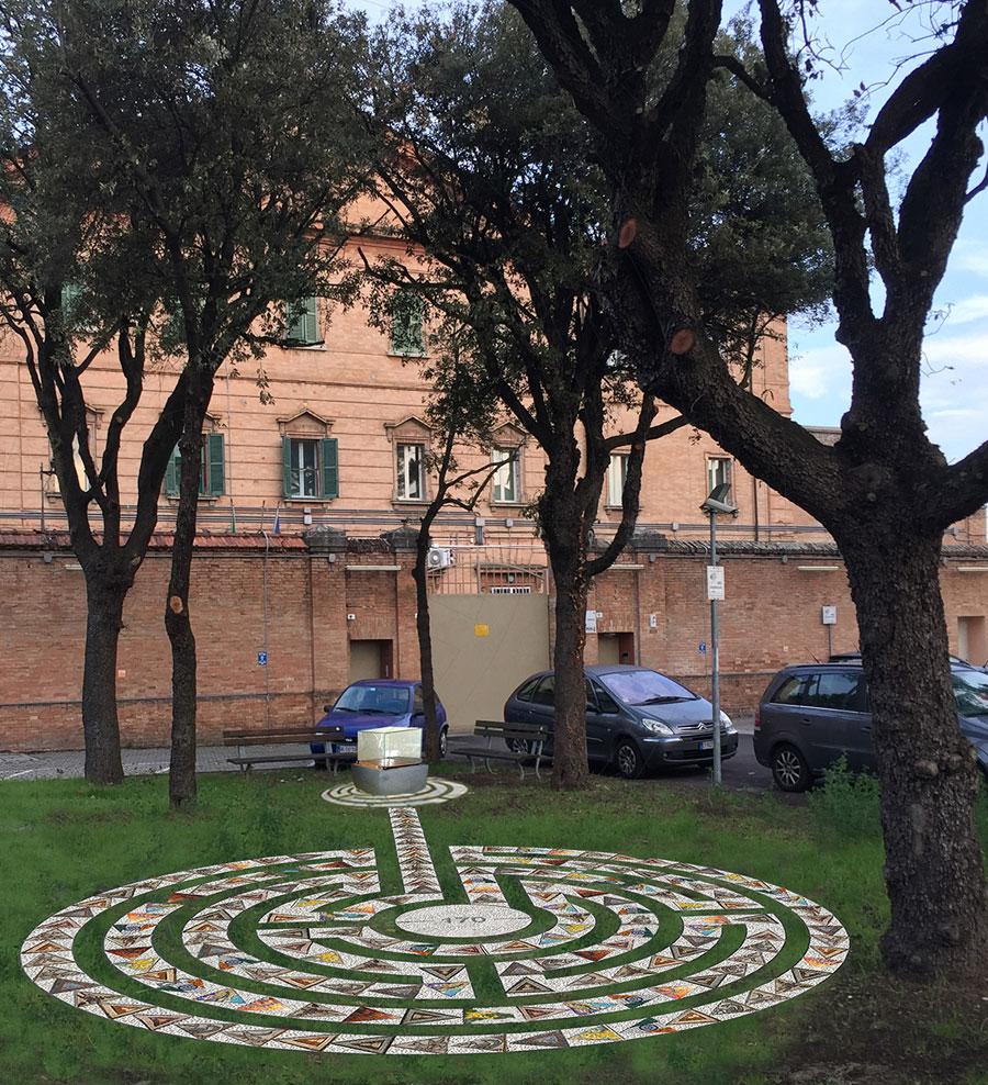 Un 39 opera in mosaico di fronte al carcere di ravenna il for Labirinto alfonsine
