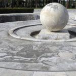 Roma,Foro Italico, Fontana della Sfera