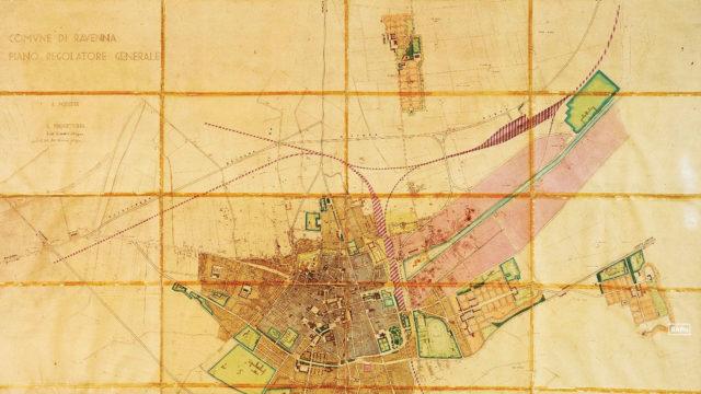 la pianta del Piano Regolatore del dopoguerra (1947) di Domenico Filippone