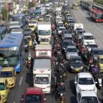 Traffico in una strada di Bogotà