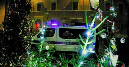 La polizia municipale della Bassa