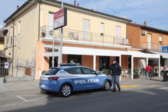RAVENNA 16/02/2018. QUESTURA DI RAVENNA. LA POLIZIA CHIUDE IL BAR CENTRALE DI PORTO FUORI