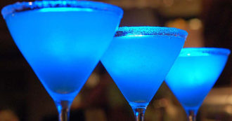Blue Drink Drinks Favim Com 260436