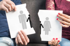 Break Up, Divorce, Shared Custody Of Children And Breaking Family Apart Concept.