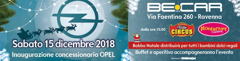 LINEABLU BECAR – INAUGURAZIONE OPEL HOME BILLB TOP 06 – 16 12 2018