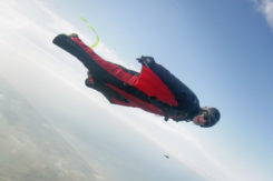 Wingsuit Flyer In Holland